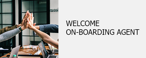 Welcome on-boarding agent